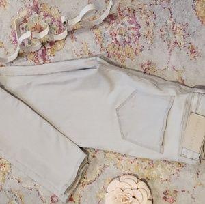 All Saints Grace skinny off white jeans